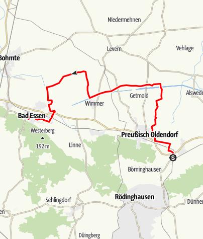 Karte / LänderGärtenTour - Bad Holzhausen-Bad Essen