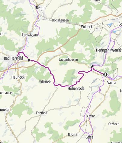 Karte / Bahnradweg 5: Kreisbahn/Solztalradweg Philippsthal - Bad Hersfeld
