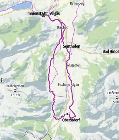 Karte / Durch das obere Illertal und die Hörnerdörfer