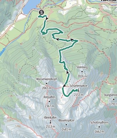 Karte / Schärtenspitze
