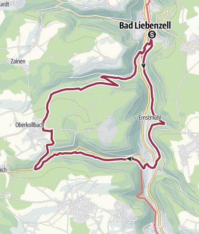 地图 / Liebenzeller Täler-Wanderung