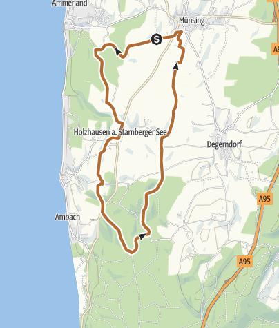 Karte / Route 21: Schloss- und Kirchenroute