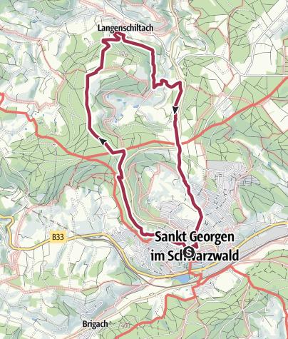 Map / St. Georgen - Rundweg über Langenschiltach