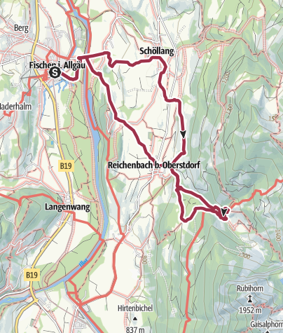 Karte / Gaisalpe - Alpwanderung ab Fischen zur Gaisalpe