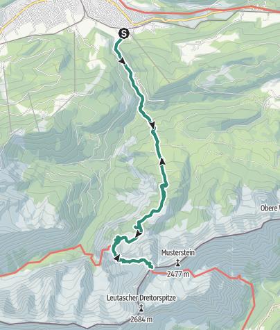 Map / To the Meiler Alpine hut, via the Partnach Gorge and Schachen