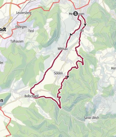 Karte / Hexentalrundweg bei Freiburg