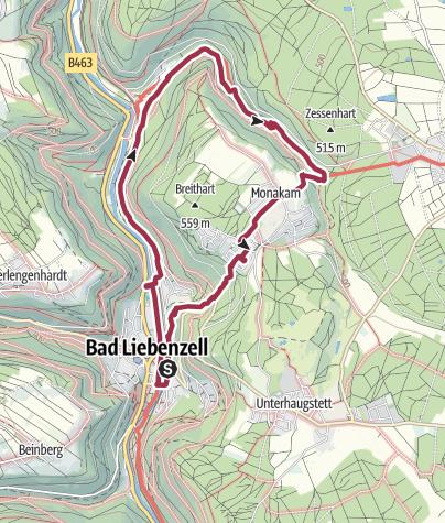 Karte / Durch das wildromantische Monbachtal