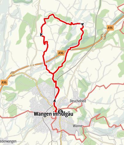 """Karte / Wanderrundweg 3: """"Zu den Leupolzer Höhen und ins Tal der unteren Argen"""""""