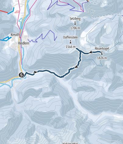 Karte / Skitour: Risserkogel von Wildbad Kreuth