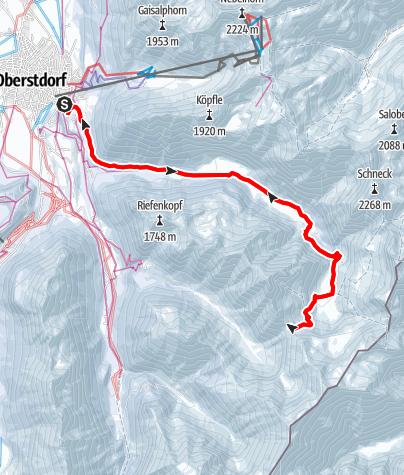 Karte / Von Oberstdorf auf den Älpelesattel
