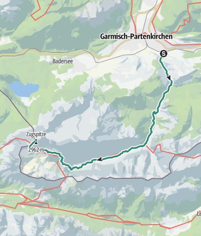 Karte / Auf den Spuren der Erstbesteiger über das Reintal auf die Zugspitze