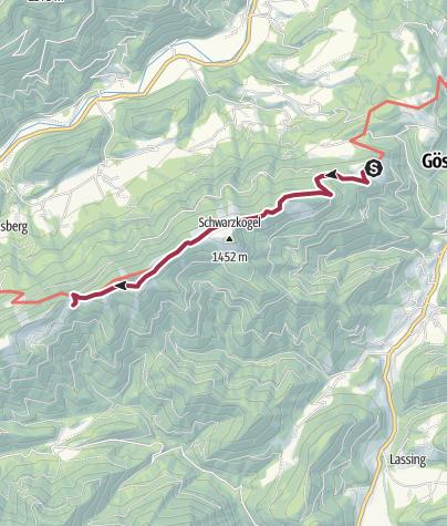 Karte / Von Hütte zu Hütte über den Königsberg