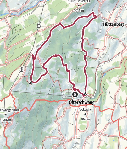 Map / Alpine Meadows - hiking tour from Ofterschwang