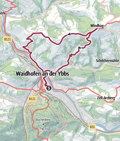 Map / Waidhofen a. d. Ybbs