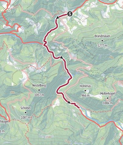 Karte / Trefflingfall (Sulzbichl - Trübenbach)