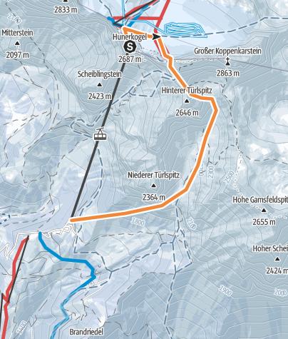 Karte / Dachstein - Edelgriess