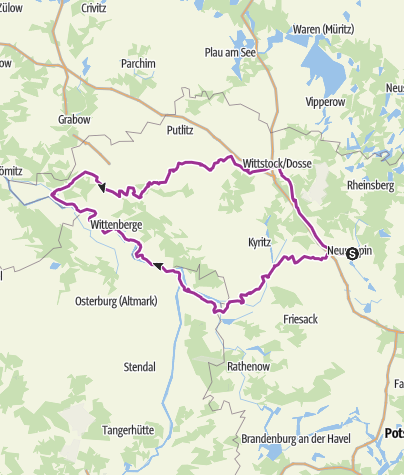 Karte / Radrouten Historische Stadtkerne - Route 3