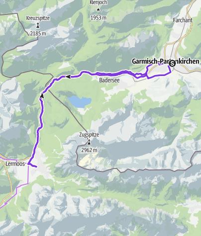 Karte / Durch das Ehrwalder Becken