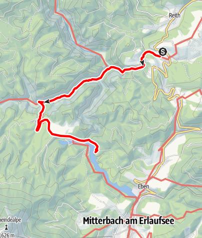 Karte / Ötschergräben: Wienerbruck - Lassingfall - Ötschergräben - Erlaufklause