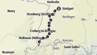 Map / Westweg - Westvariante