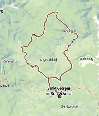 Map / St. Georgen - Rundtour über Tennenbronn