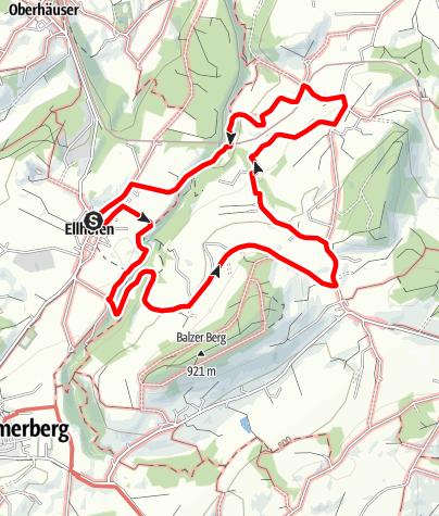 Karte / Weiler-Simmerberg R13 Rutzhofen - Berbruggen