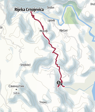 Map / Poeljzni Lake - Crnojevika  20 Apr 2018