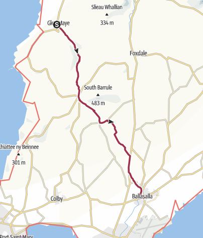 Map / Glenmaye Ballasalla Walk
