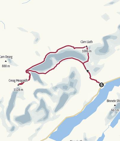 Map / CreaghMeagaidhRoute