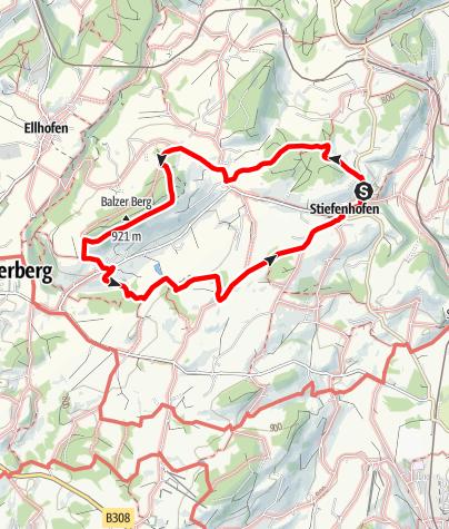 Karte / Stiefenhofen R1 Balzhofen/Hertnegg-Runde