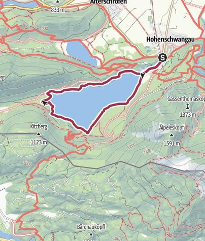Karte / Rund um den Alpsee