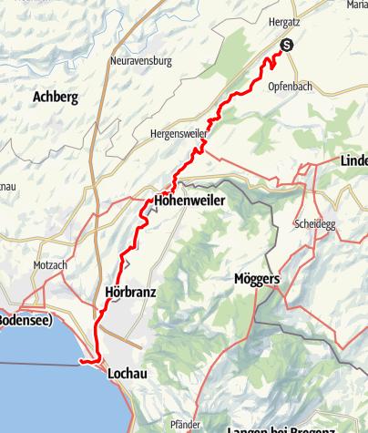 Karte / Sigmarszell R1 Leiblachtalwanderweg