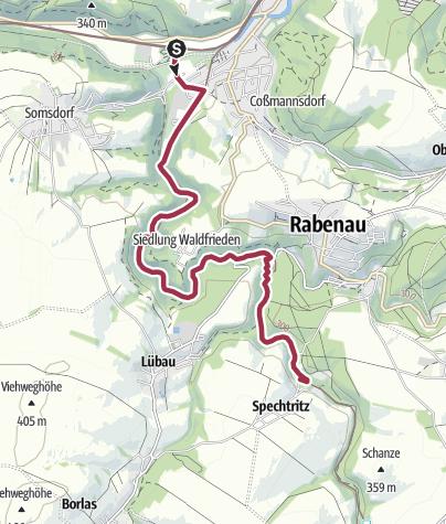 Karte / Von Freital an der Roten Weißeritz entlang durch den Rabenauer Grund