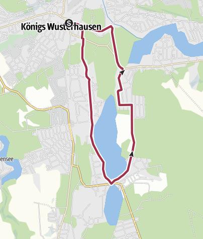 Carte / Von Königs Wusterhausen um den Zeesener See