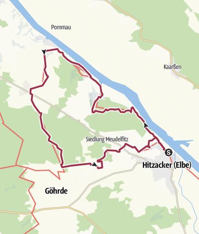 Karte / Der Klötzie-Stieg bei Hitzacker an der Elbe