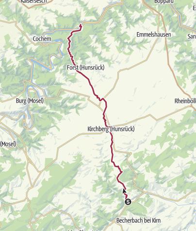 Karte / Eine Überquerung des Hunsrück