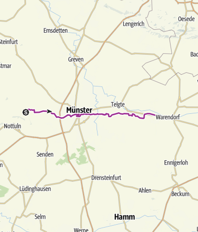Karte Münsterland.Radtour Der Lebhaften Kontraste Im Münsterland Radtour