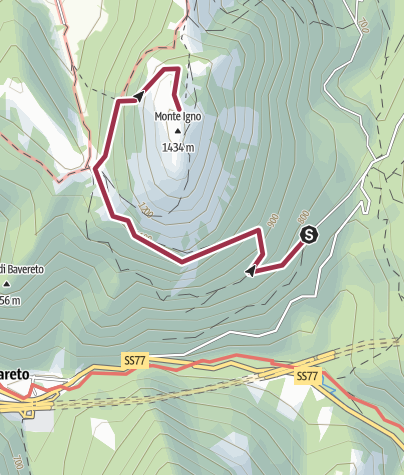 Map / Monte Igno da Gelagna Alta