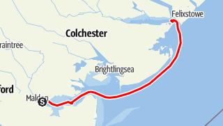 Map / Thames barge trip 29-31 July 2016