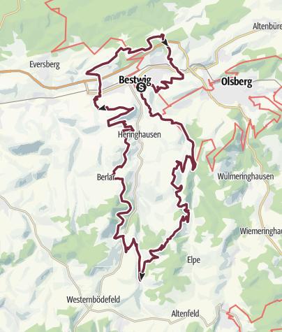 Karte / Bestwiger Panoramaweg (B)