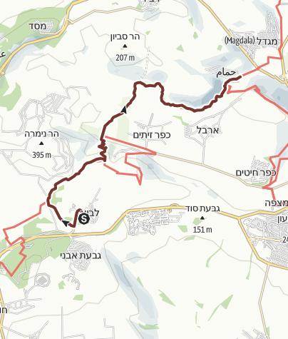 Karte / Auf dem Gospeltrail von Kibbuz Lavi zum See Genezareth