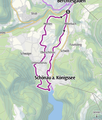 Karte / Rad: Berchtesgadener Radstern Süd