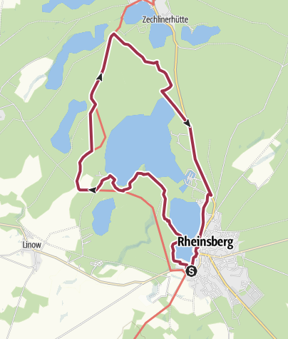 Karte / Um den Rheinsberger See im Ruppiner Land