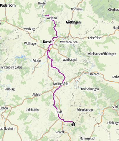Karte / Fulda-Radweg