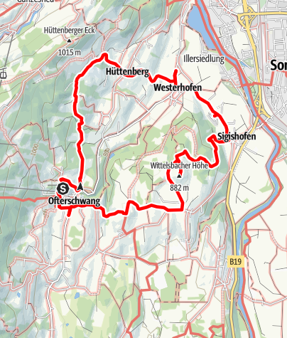 Karte / Gutes vom Dorf - Rundwanderweg Ofterschwang