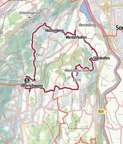 "Map / ""Gutes vom Dorf"" - Culinary hike through Ofterschwang"
