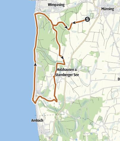 Karte / Route 20: Schöner Ausblick- oder Erlebnisroute