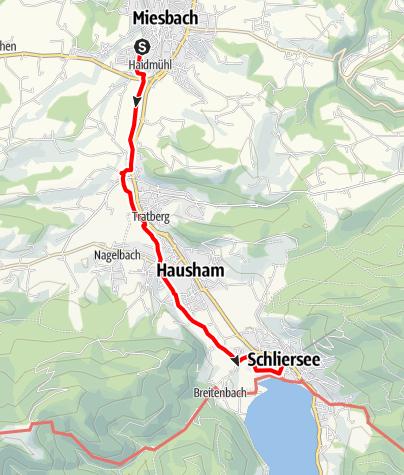 Karte / Auf dem Schlierachweg