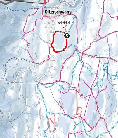 Karte / Dorfloipe - Langlaufen in Ofterschwang