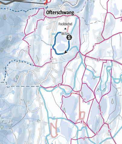 Map / Dorfloipe - cross-country skiing in Ofterschwang